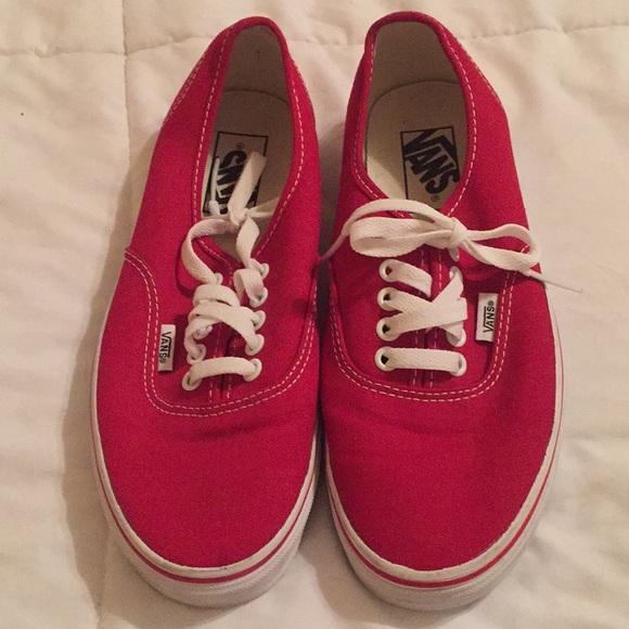 Vans Shoes | Red Van Tennis | Poshmark